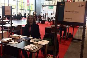 Andrej Hočevar (LUD Literatura) na milanskem knjižnem sejmu
