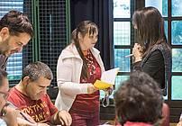 Usposabljanje ViA v ZUDV Dornava, mentor David Bedrač in gostja Kristina Kočan