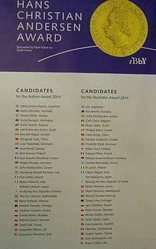 Seznam kandidatov za Andersenovo nagrado 2014