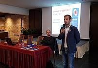 Aleš Novak med uvodnim nagovorom