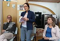 Gostja Barbara Korun v Društvu Altra Prevalje