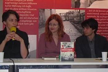 Gabriela Babnik na leipziškem knjižnem sejmu