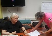 Lela B. Njatin na obisku
