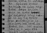 Rokopis besedila iz PD Radeče