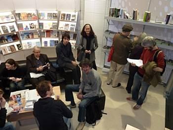 Slovenski avtorji, novinarji in uredniki na slovenski stojnici v Leipzigu 2012