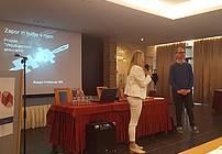 Mojca Bergant Dražetić in Robert Friškovec na seminarju za mentorje ViA 2018
