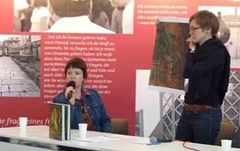 Barbara Simoniti na knjižnem sejmu v Leipzigu 2013