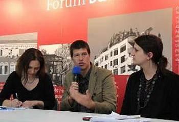 Goran Vojnović na knjižnem sejmu v Leipzigu 2014