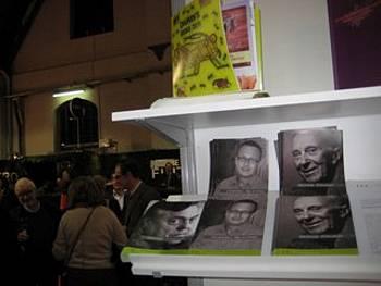 Dela slovenskih avtorjev na stojnici na knjižnem sejmu v Bruslju 2012