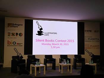 Tekmovanje slikanic brez besef tekmovanja slikanic brez besed (Silent Book Contest) na knjižnem sejmu v Bologni 2015