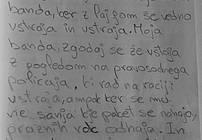 Rokopis pesmi iz PD Radeče