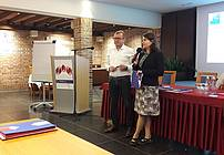 Martin Lisec in Zarika Snoj Verbovšek na seminarju za mentorje ViA 2018