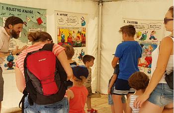 Razstava Pot knjige na Art kampu