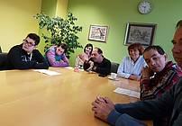 Obisk Andreja Rozmana Roze v VDC Polž MB