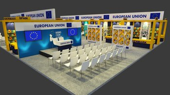 EU paviljon na knjižnem sejmu v New Delhiju