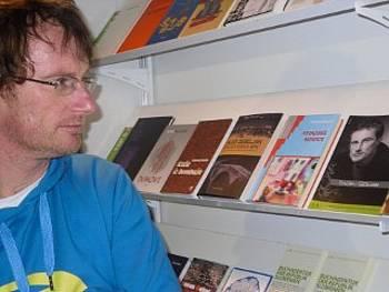 Tadej Golob na knjižnem sejmu v Budimpešti 2011