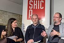 Jani Virk in Andrej Skubic v knjigarni Orlando