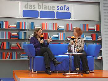 Nina Blazon na knjižnem sejmu v Leipzigu 2010
