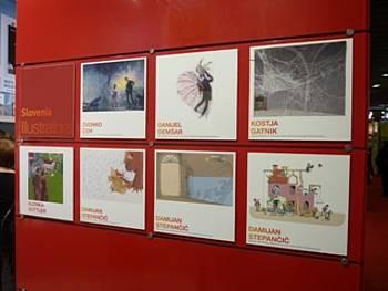 Predstavitev slovenskih ilustratorjev na stojnici JAK v Bologni 2012