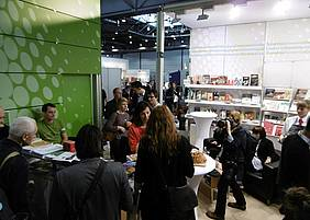 The booth of Slovenian Book Agency (JAK).