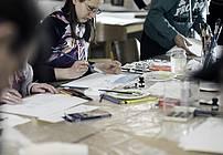 Delavnica ilustriranja v Društvu Vezi Postojna (foto Jana Jocif)