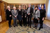 Damjana Pečnik (MzK), minister za kulturo Anton Peršak, Simone Bühler (FBM), Renata Zamida (JAK), Juergen Boos (FBM), Eva Štravs Podlogar (MGRT), Alenka Suhadolnik (MZZ)