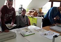 Udeleženci delavnice v Dobrni s koordinatorko Mojco