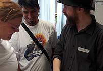 Ciril Horjak v pogovoru z udeleženci delavnice