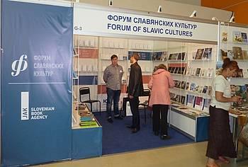 Stojnica Foruma slovanskih kultur in JAK na knjižnem sejmu v Moskvi 2014