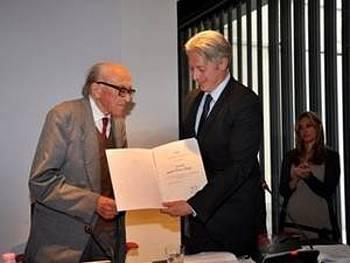 Boris Pahor na predstavitvi knjige v Milanu 2012