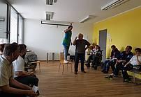 Peter Svetina na obisku v VDC Polž