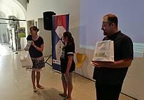 Podelitev knjižnih nagrad po zaključku nagradne igre, foto: JAK RS
