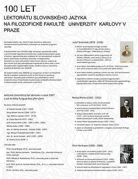 Program ob stoletnici Slovenskega lektorata na Karlovi univerzi v Pragi