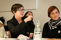 Maja Šorli, a member of the expert jury and dramaturg Simona Hamer