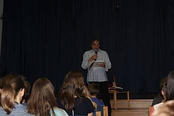Vinko Möderndorfer na OŠ Danile Kumar, foto: OŠ Danile Kumar