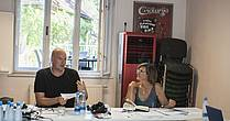 The workshop with mentors Matthias Göritz and Rosemarie Linde