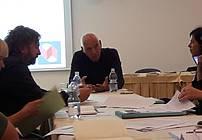 Marjan Čander v pogovoru z mentorji
