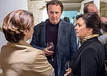 Andrej Blatnik in Barbara Koželj Podlogar (SKICA) v knjigarni Orlando