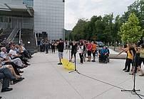 Nastop udeležencev ViA na občinski proslavi v Velenju