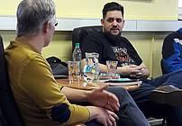 Žiga Valetič in Pižama v Društvu Altra Ljubljana