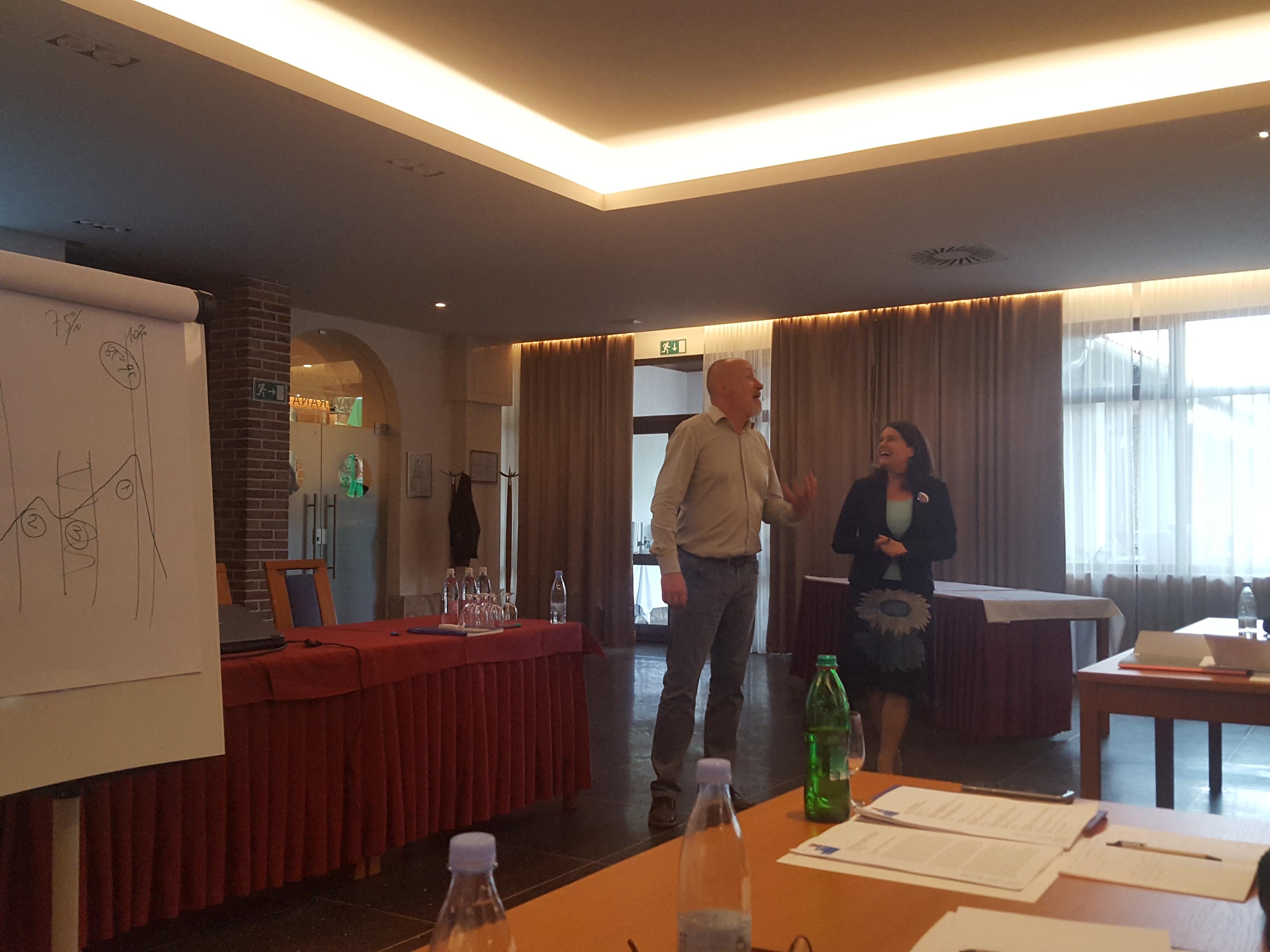 Tomaž Gubenšek in Zarika Snoj Verbovšek na seminarju za mentorje ViA 2018