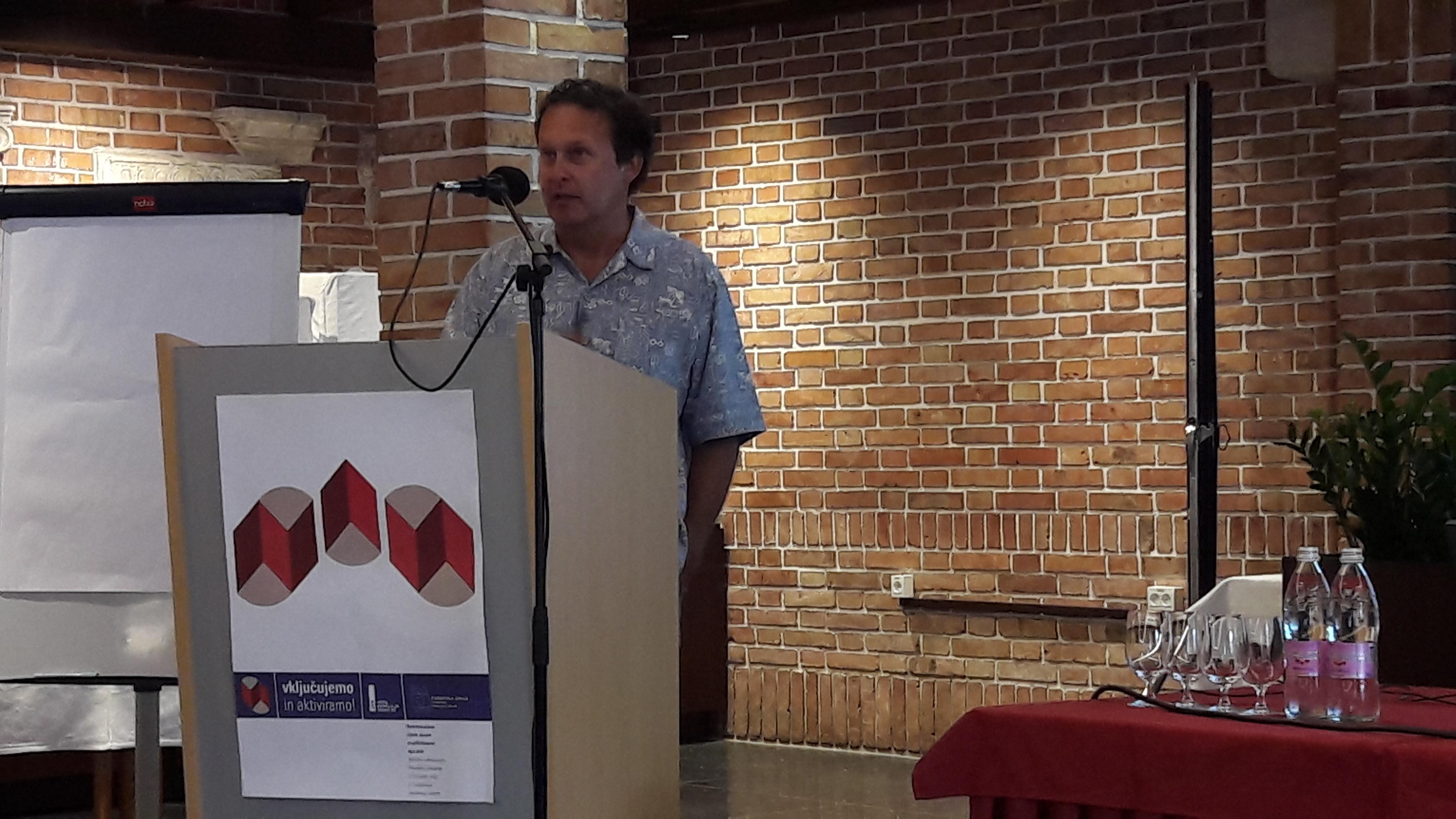 Andrej Blatnik na seminarju za mentorje ViA 2018