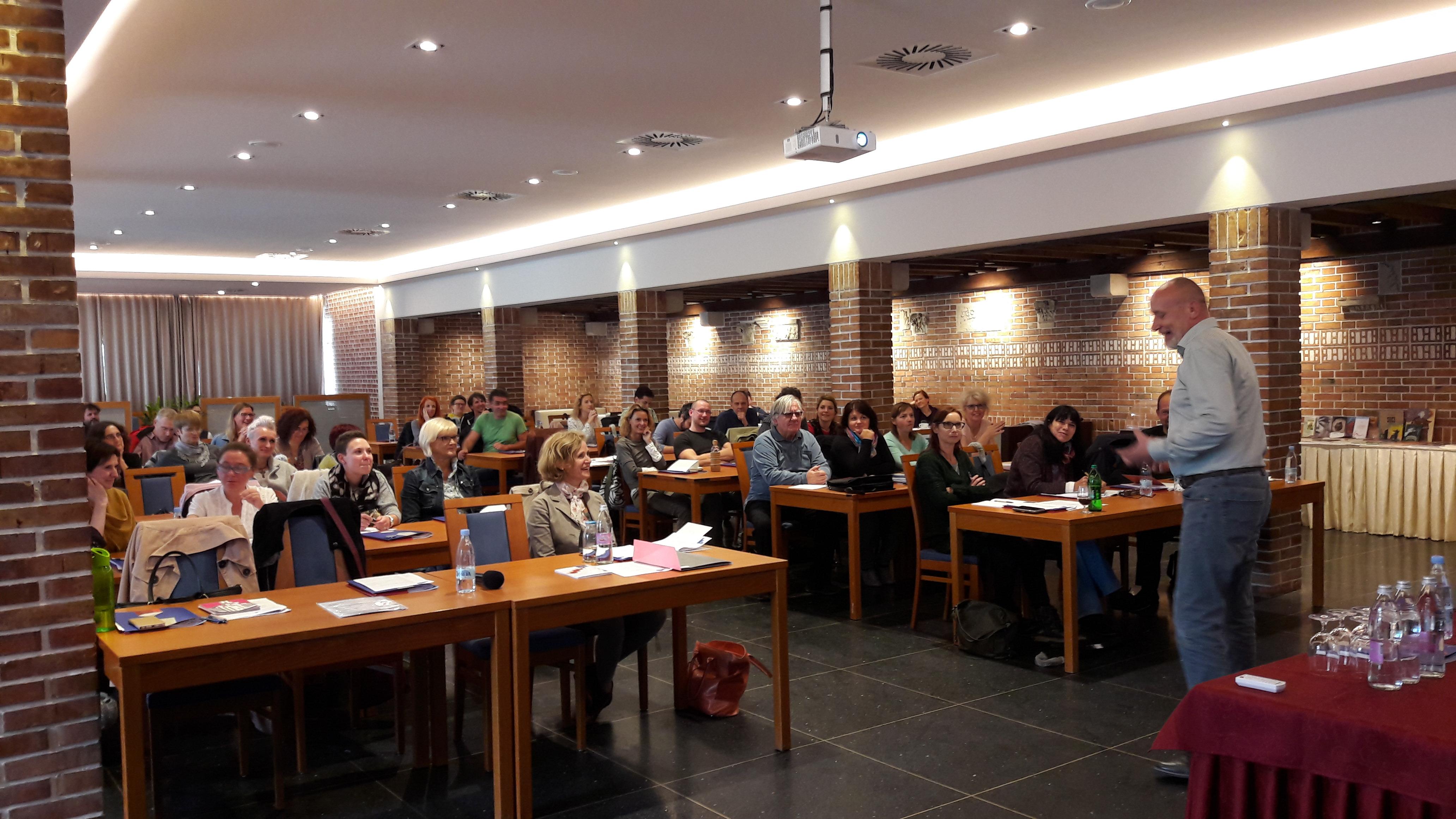 Tomaž Gubenšek na seminarju za mentorje ViA 2018