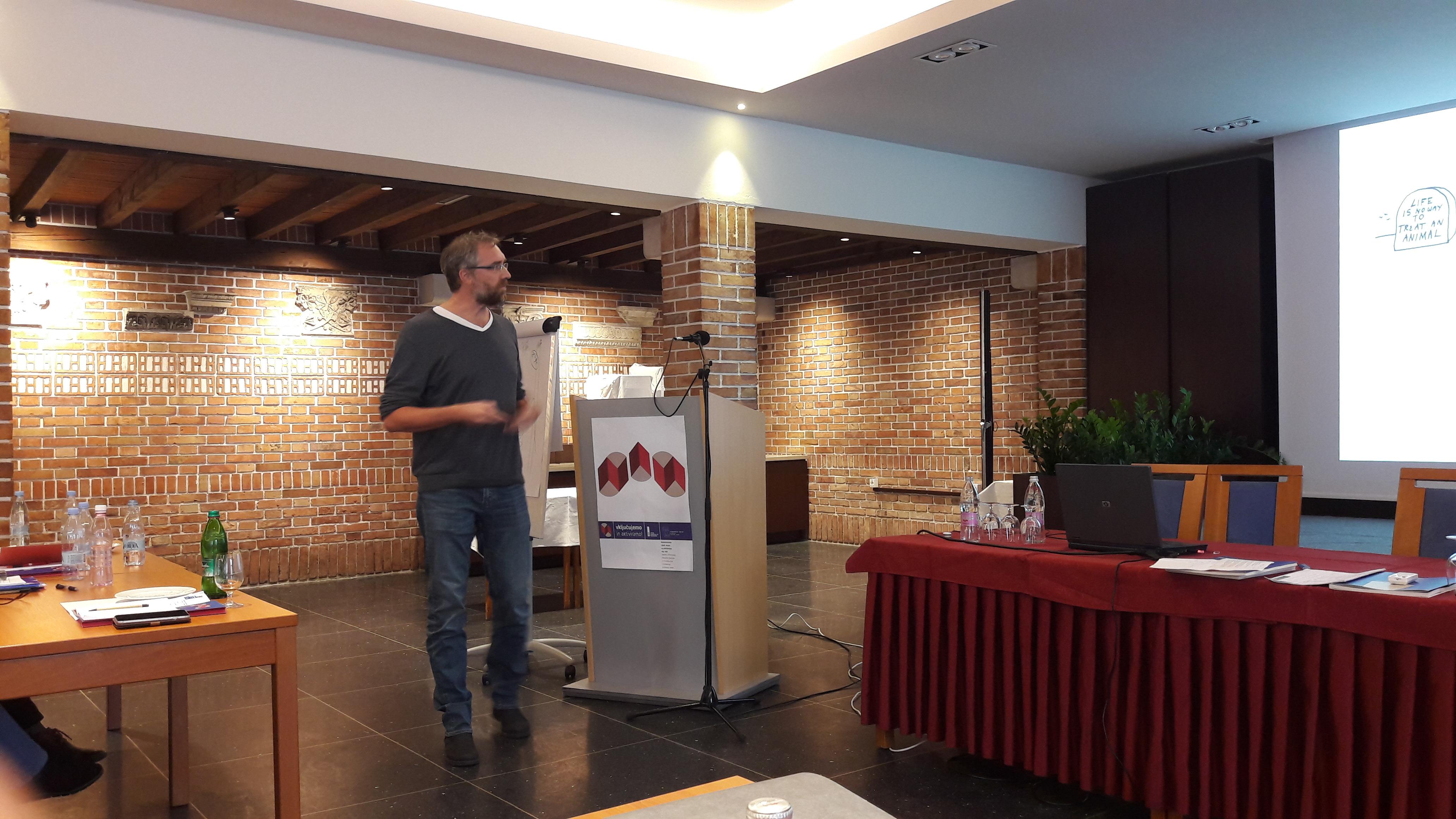 Arjan Pregl na seminarju za mentorje ViA 2018