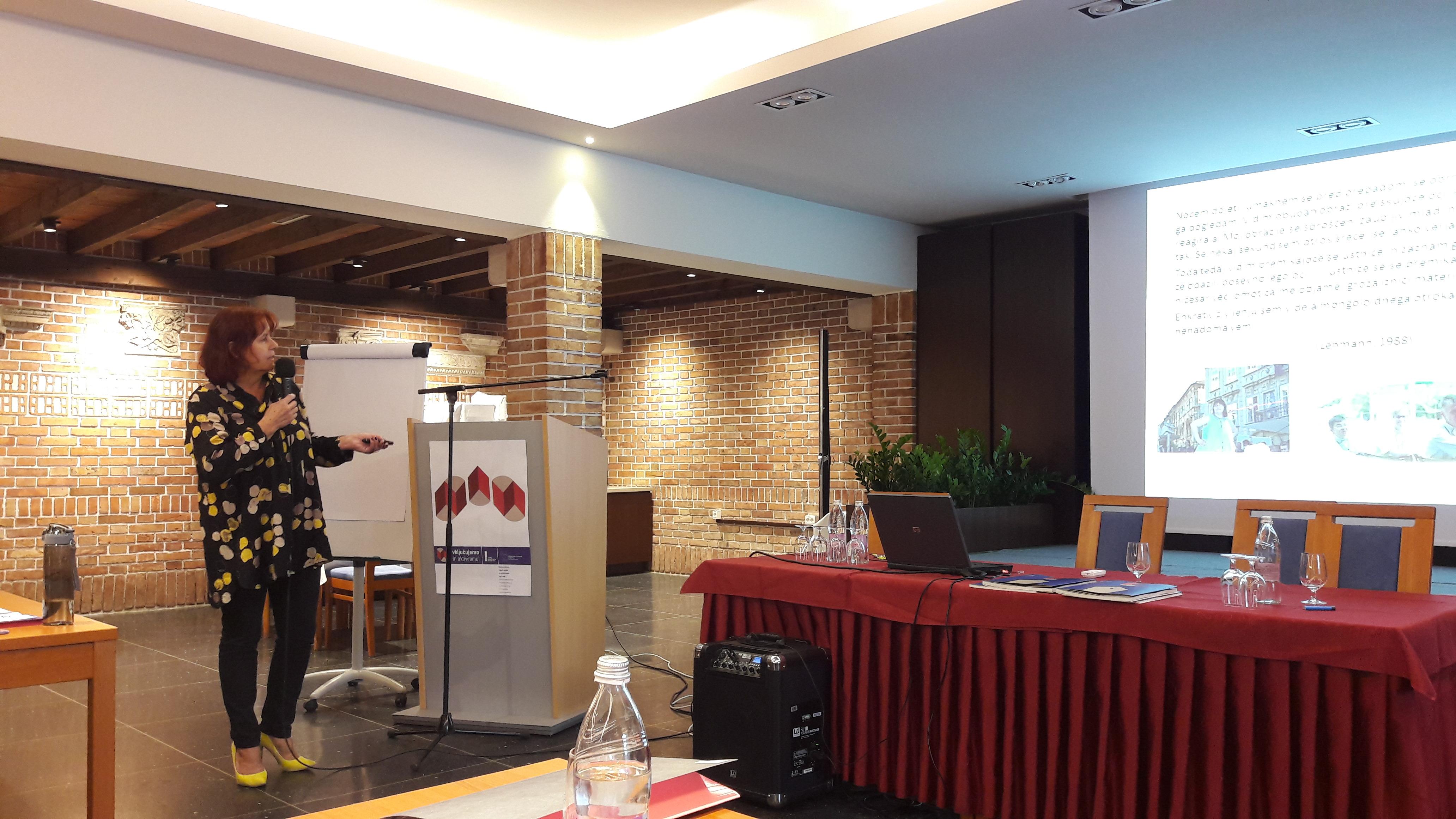 Valerija Bužan na seminarju za mentorje ViA 2018