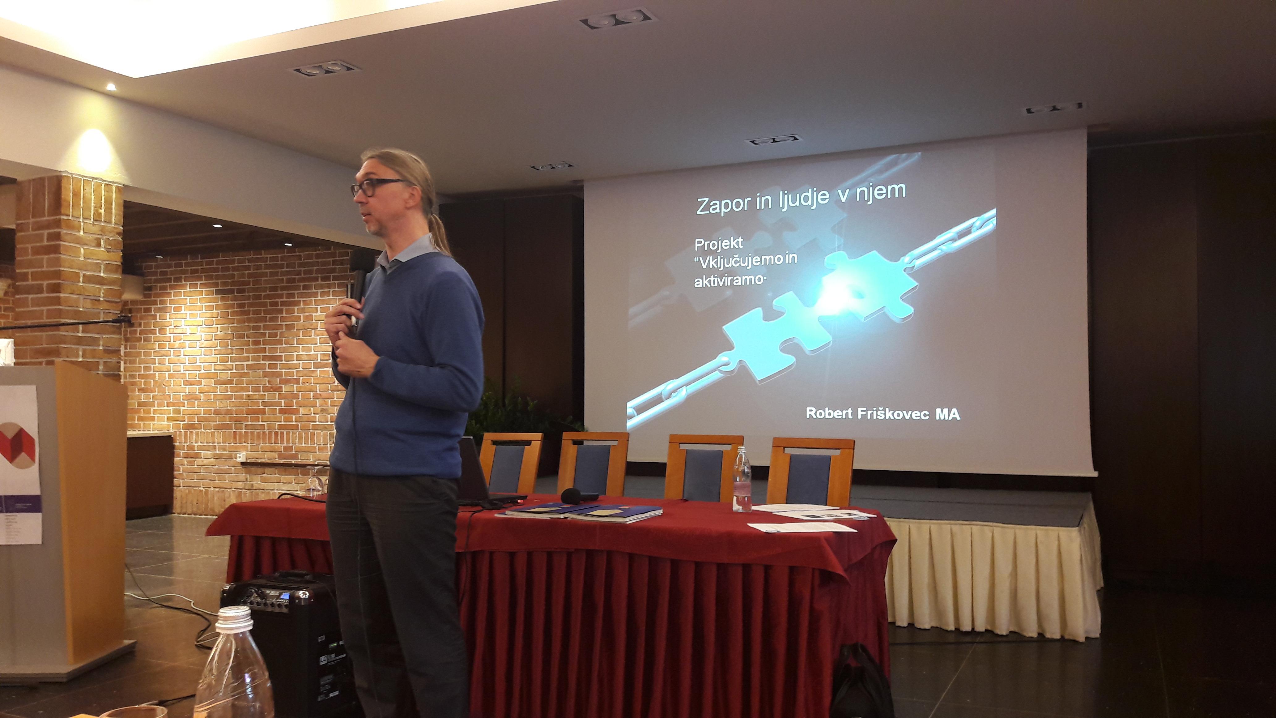 Robert Friškovec na seminarju za mentorje ViA 2018