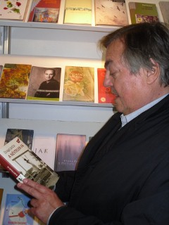 Drago Jančar na knjižnem sejmu v Budimpešti 2011
