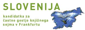 """Logotip """"Slovenija - častna gostja v Frankfurtu"""""""